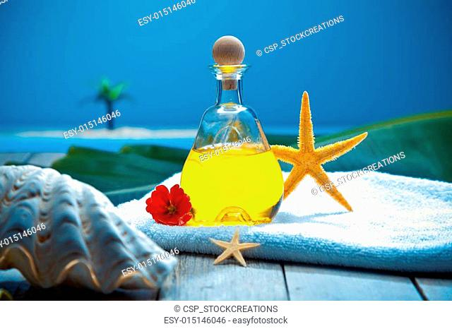 Tropical wellness spa treatment