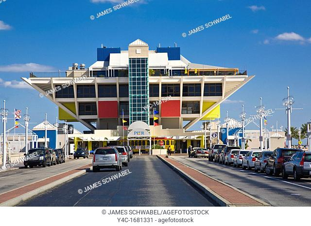 The Pier shopping and dining complex on the St Petersburg Florida waterfront