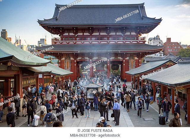 Japan, Tokyo City, Asakusa district, Sensoji Temple