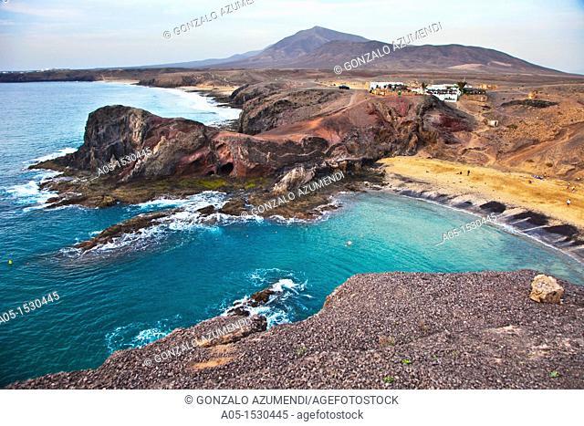 Papagayo Beach  Lanzarote Canary Islands  Spain