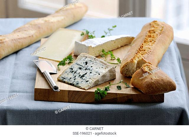 Cheeseboard with bread