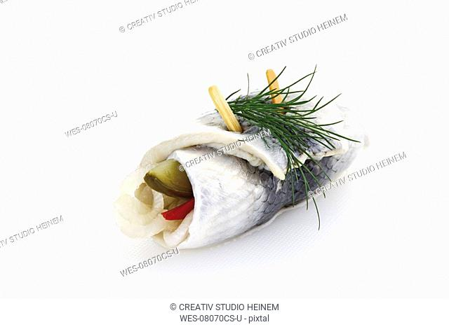 Rollmops, typical german food, close-up