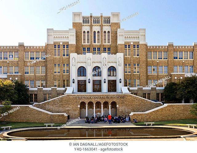Little Rock Central High Schoo, site of forced desegregation during the Civil Righs Movement, Arkansas, USA