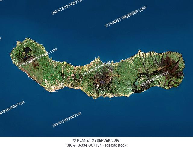 Map of azores islands Stock Photos and Images | age fotostock