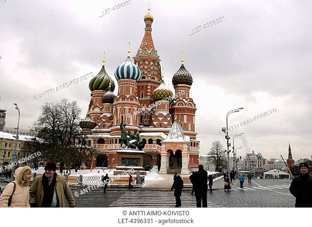 St. Basil's Cathedral at the Red Square in Moscow, Russia