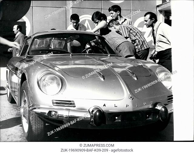 Sep. 09, 1969 - New Products On The 25th Fair In Plovdiv: The new car 'Bulgarapine 70' mounted in the automotive plant 'Bulgarrenault' in Plovdiv called the...