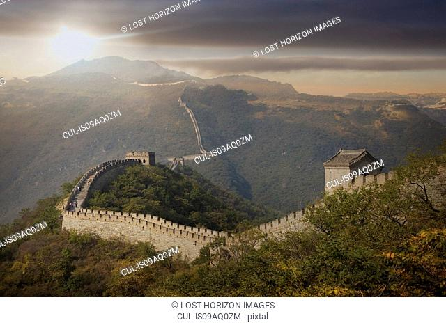 View of The Great Wall at Mutianyu, Bejing, China