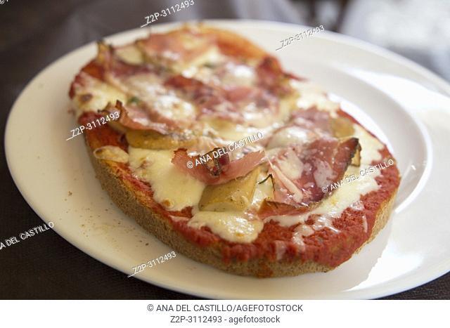Hot panini Italian food