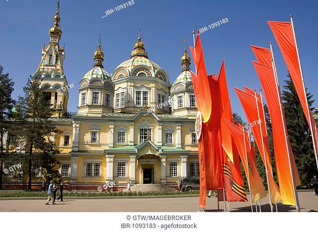 Russian Orthodox Zenkov Cathedral, Panfilov Park, Almaty, Kazakhstan
