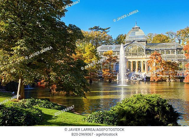 Palacio de Cristal, Parque del Retiro, Madrid, Spain, Europe