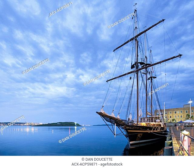 Sailing ship Peacemaker moored in Halifax Harbour during the 2012 Tall Ships festival in Halifax, Nova Scotia