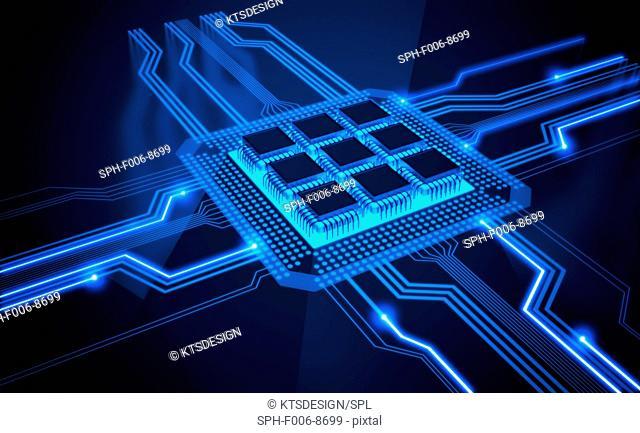 Microchip, computer artwork
