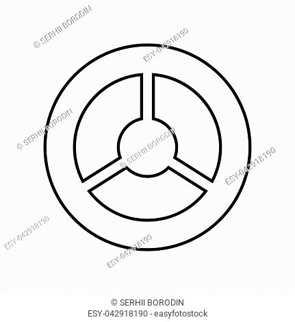 Steering wheel it is black color icon