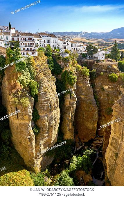 El Tajo Gorge Canyon, Ronda, Andalusia, Spain