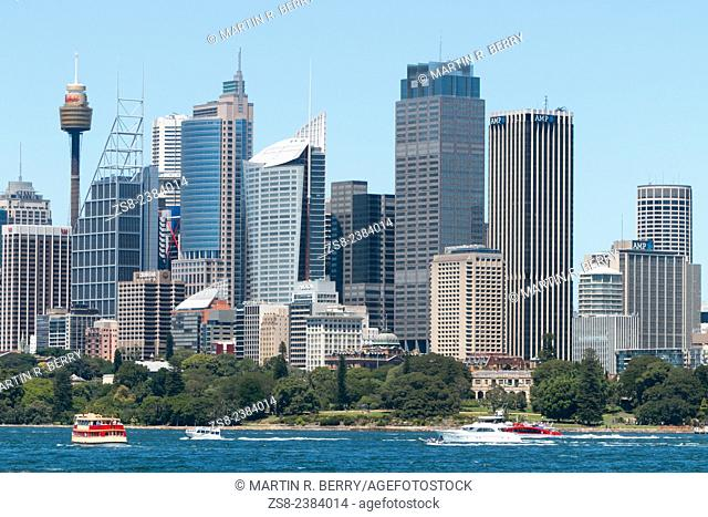 Sydney skyline and corporate offices in the city centre, New south wales, Australia