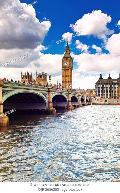 Westminster bridge and Big Ben, London, United kingdom of Great Britain