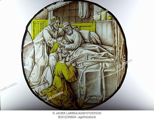 Rondel: Bénédiction de Jacob. Pays-Bas du Sud, 1480-1490. Musee du Moyen-Age Middle Ages Museum, the former Hotel de Cluny. Musée de Cluny. Paris