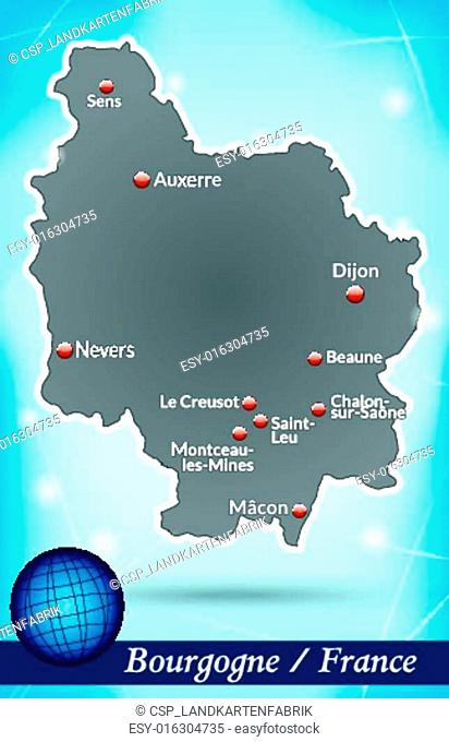 Map of Burgundy