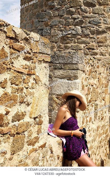 Tossa de Mar Castle, Costa Brava. Girona, Spain