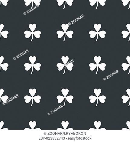 Straight black clover pattern