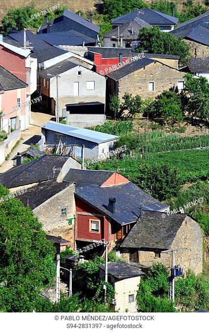 View of Biobra town, Orense, Spain