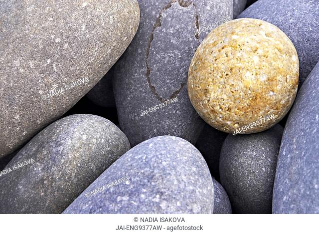 Pebbles in Sandymouth Beach, Cornwall, UK