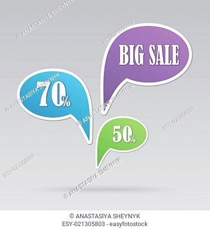 text bubble SALE