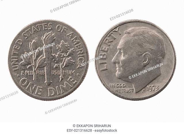 1973 1 dim United States of America coin
