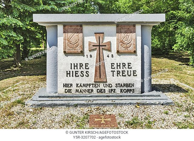 The Waffen-SS Monument is located in the park of the Palais Festetics in Deg. It was built in 1991. The castle was built in 1815-1819 in the neoclassicism style...