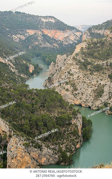 Cañón del Río Júcar, Villa de Ves, La Manchuela, Albacete province. Spain