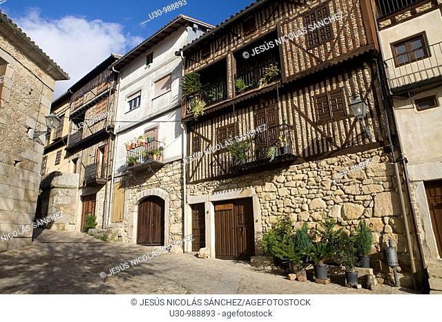 Typical architecture Mogarraz, in Las Batuecas-Sierra de Francia Natural Park  Salamanca  Castilla y León  Spain