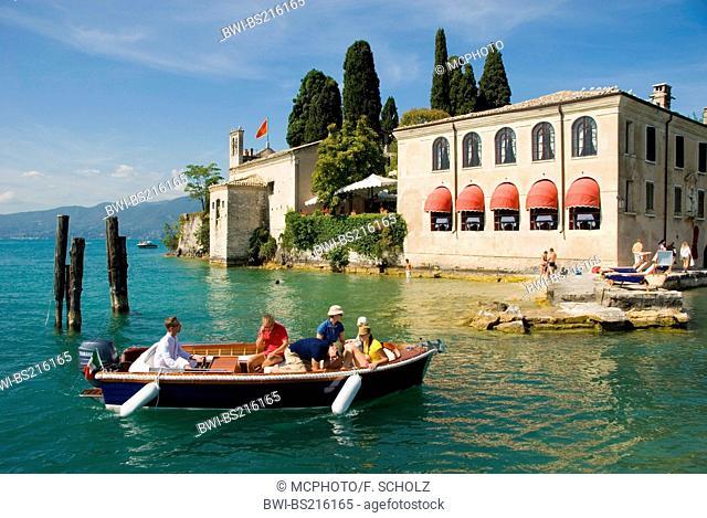 restaurant, Locanda San Vigilio at Lake Garda, family boating, Italy, Veneto, Lake Garda, Garda