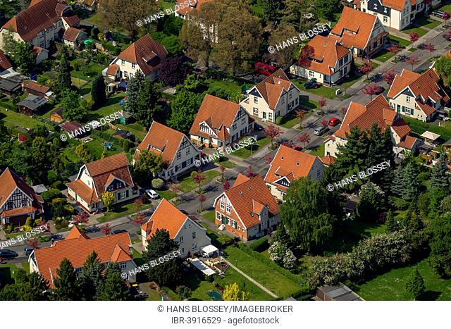 Aerial view, Teutoburgia colliery village, Börnig, Herne, Ruhr district, Herne, North Rhine-Westphalia, Germany