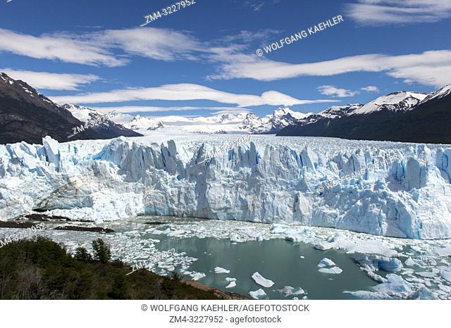 View of Perito Moreno Glacier in Los Glaciares National Park near El Calafate, Argentina