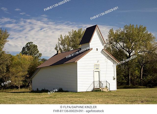 Former schoolhouse, built in 1883, Urbana School, Urbana, Barnes County, North Dakota, U.S.A., September