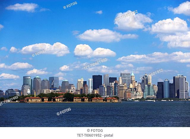 USA, New York State, New York City, Skyline of Lower Manhattan