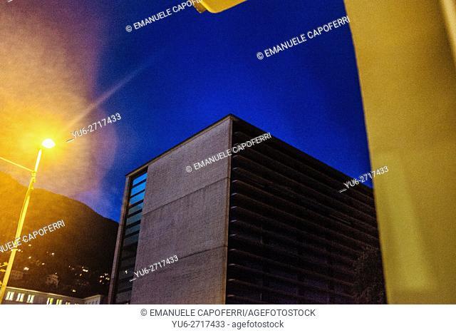 Skyline Corner, Locarno, Switzerland, Night