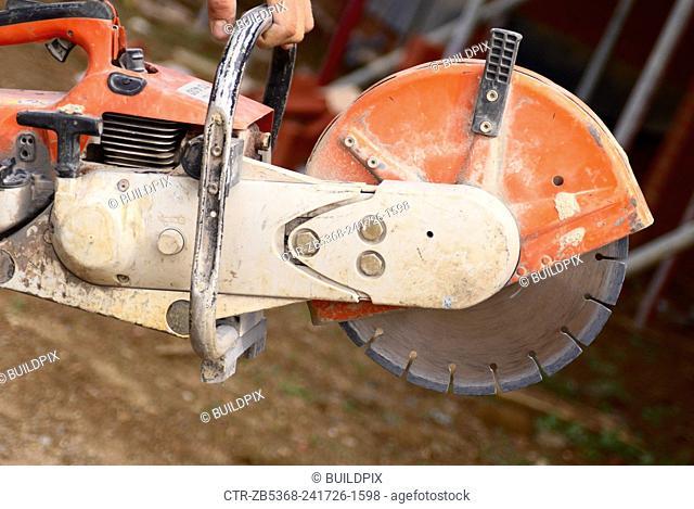Close up of a petrol cutter