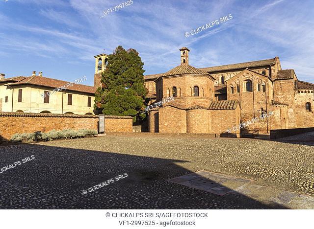 Lomello, Province of Pavia, Lombardy, Italy. The Cathedral of Santa Maria Maggiore