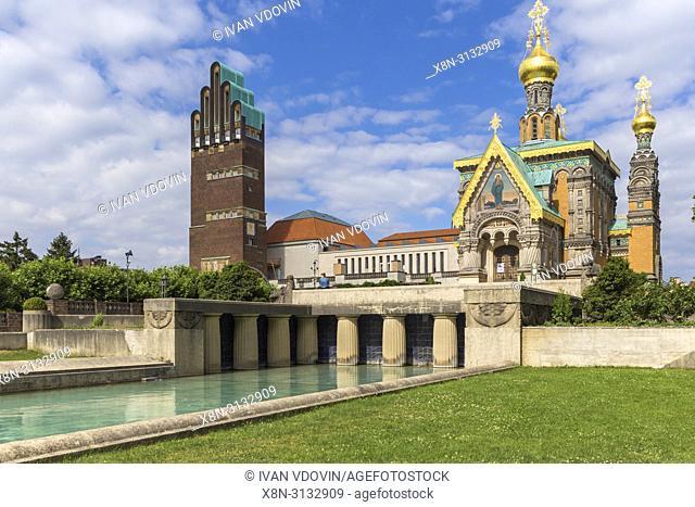 Russian Chapel (1899), Mathildenhohe, Darmstadt, Hesse, Germany