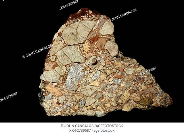 Leesburg Limestone Conglomerate - Frederick county Maryland, Formed in a Triassic half grabben created when the Africa plate split apart from the North American...