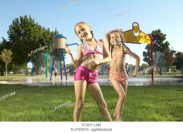 Kids at Waterpark, St Catherines, Ontario