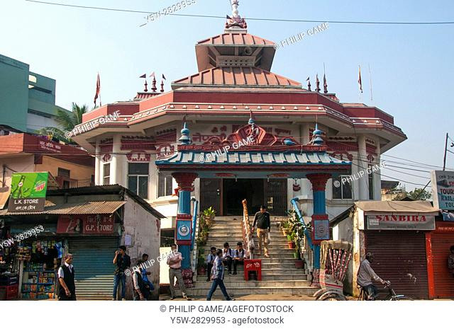 The Nepali Mandir, a landmark Hindu temple in downtown Guwahati, the capital city of Assam State, India