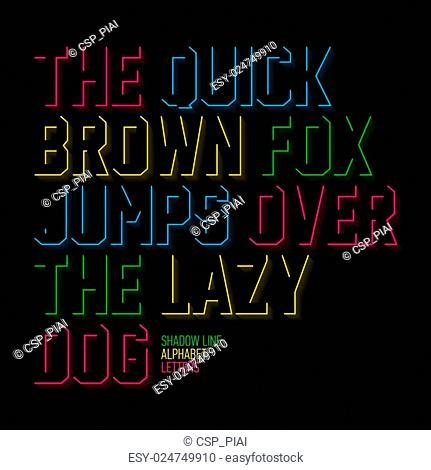 Shadow line alphabet