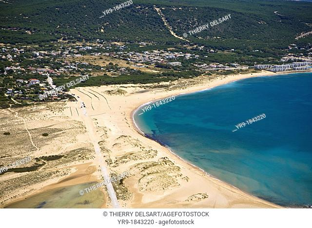 Caños de Meca coast Cádiz Spain Aerial view  'The dune'
