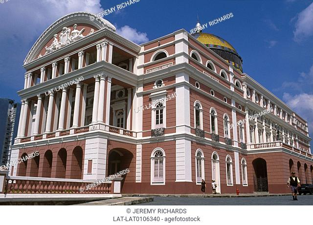 The Amazon Theatre or Teatro Amazonas is an opera house completed in 1896,during the height of the rubber boom,a copy of the Grand Opera de Paris