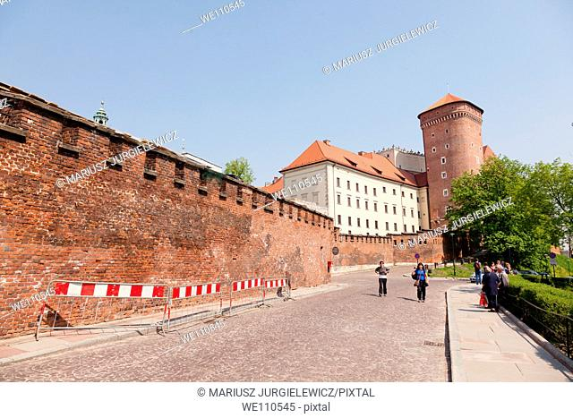 The Gothic Wawel Castle in Cracow in Poland was built at the behest of Casimir III the Great