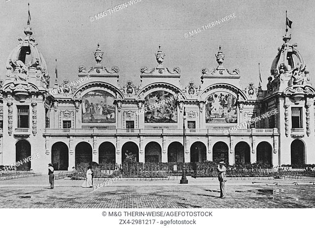 Palais des manufactures nationales, Universal Exhibition 1900 in Paris, Picture from the French weekly newspaper l'Illustration, 20th October 1900