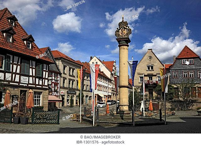 Market Square, Kronach, Upper Franconia, Bavaria, Germany, Europe