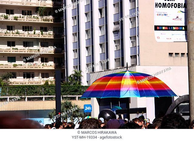 Gay parade, Paulista Avenue, São Paulo, Brazil